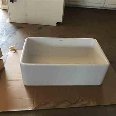 jessica  verified customer review of Duet Series 30 reversible fireclay sink with smooth front apron