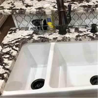 Lindsey  verified customer review of Quatro Alcove 36 Large Fireclay reversible Sink and Small Bowl