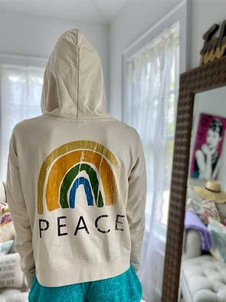 YES AND Frida Rainbow Peace Hoodie Review