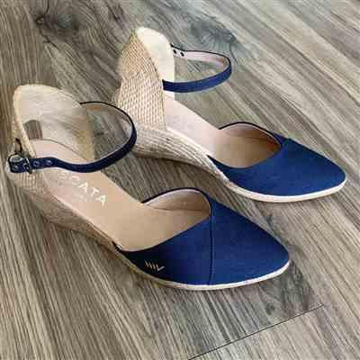 Ashley L. verified customer review of Caseta Canvas Wedges - Navy