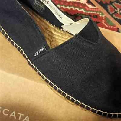 Sylvia K. verified customer review of Barceloneta Canvas Espadrilles - Navy Blue (Elastic Inseam)