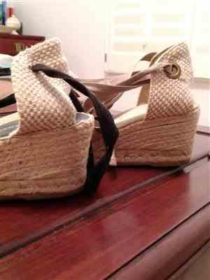 Judith M. verified customer review of Escala Canvas Wedges - Beige