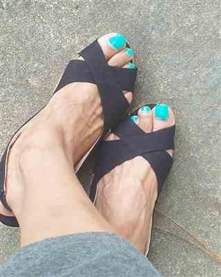 Monica T. verified customer review of Calella Canvas Wedges - Black