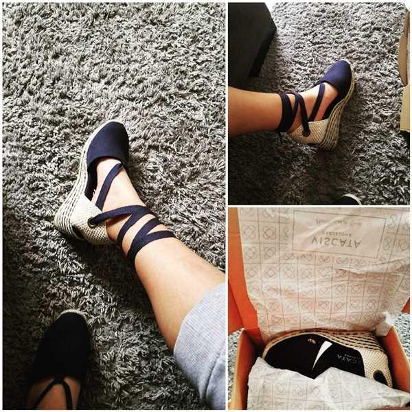 VISCATA Escala Canvas Wedges - Bicolor Jute Navy Review