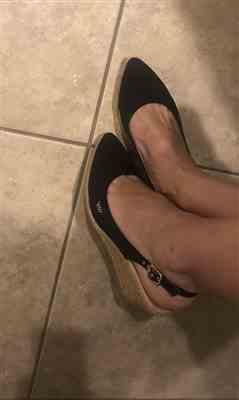 Lena S. verified customer review of Palomera Canvas Slingback Buckle Wedges - Black