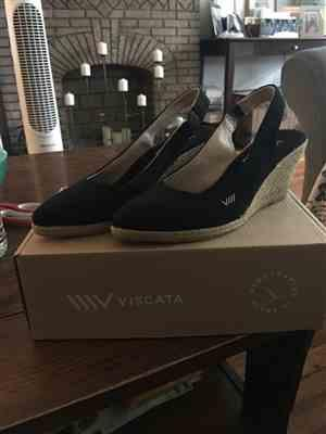 Janice O. verified customer review of Lloret Canvas Wedges - Black