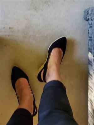 Marisela M. verified customer review of Lloret Canvas Wedges - Black