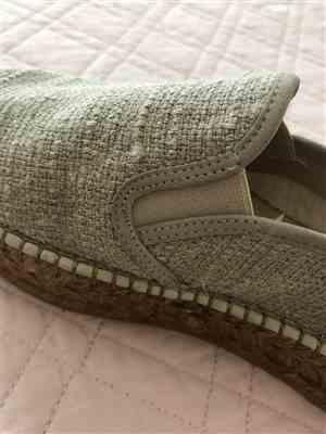 Carolina A. verified customer review of Castell Linen Platform Slip-on Espadrilles - Beige