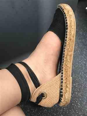 VISCATA Candell Linen Espadrilles - Black Review