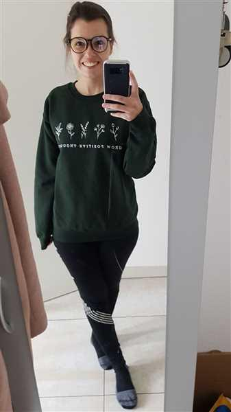 Mimi Seif verified customer review of Grow Positive Thoughts - Crew Sweatshirt