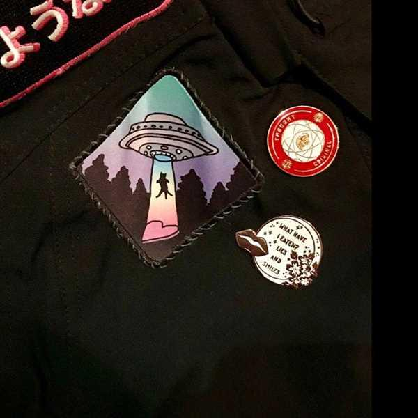 Heike verified customer review of UFO Cat Printed Iron On Patch