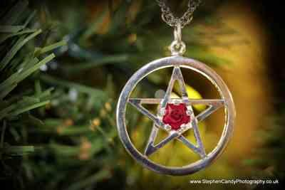 Stephen Candy verified customer review of Harry Dresden's Pentacle Necklace with Ruby