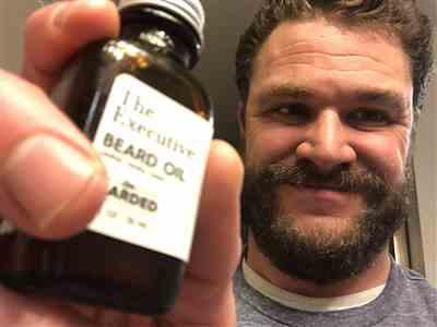 Kyle H. verified customer review of The Executive Beard Oil
