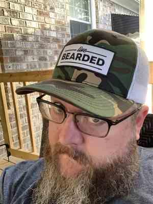 Matthew S. verified customer review of Camo Trucker Hat with White Mesh Back
