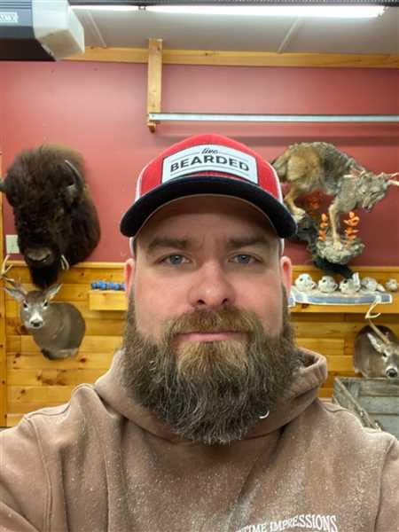 Jim Corteville verified customer review of Red, White, and Blue Trucker Hat