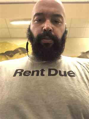 Joel Z. verified customer review of Rent Due T-Shirt - Olive
