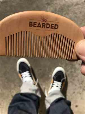 Danny S. verified customer review of Beard Comb - Natural Wood