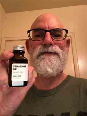 Mark G. verified customer review of Straight Up Beard Oil