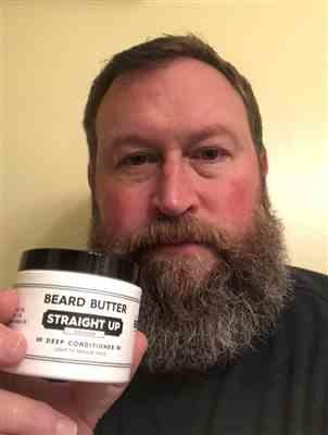 Fred N. verified customer review of Straight Up Beard Butter