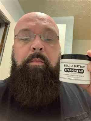 Harry P. verified customer review of Straight Up Beard Butter