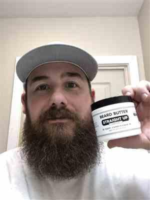 Randy M. verified customer review of Straight Up Beard Butter