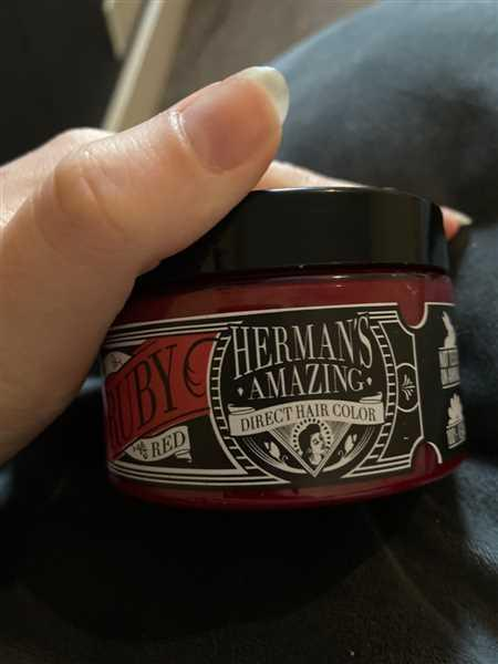 Shannon Mckeogh verified customer review of Herman's Amazing Direct Hair Colour - Ruby Red