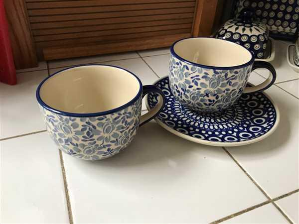 The Polish Pottery Outlet Large Latte/Soup Cups (English Blue) Review