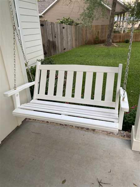 Jordan Hood verified customer review of Porchgate Amish Made Mission White Porch Swing