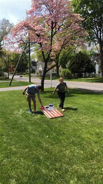 American Cornhole Association American Flag Regulation Cornhole Boards Bag Toss Game Set Review