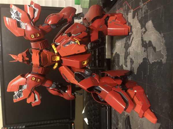 USA Gundam Store Gundam 1/100 MG Neo Zeon MSN-04 Sazabi Ver. Ka Mobile Suit Model Kit Bandai Review
