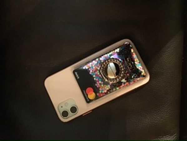 Felicia Allen-Bass verified customer review of STICK TO IT MULTI CONFETTI PHONE WALLET
