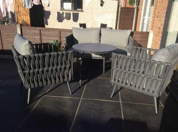Alexander Francis Lusso Grey Rope Weave Outdoor Dining Set Review