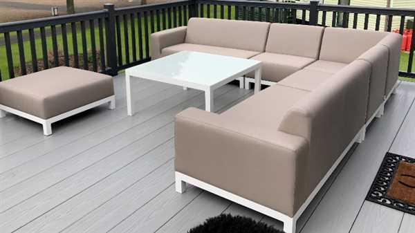 Keith D verified customer review of Minimo Sunbrella Fabric Garden Corner Sofa - White Metal Frame
