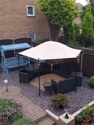 Andy G. verified customer review of Canopy for 4m Hexagonal Patio Gazebo - Single Tier