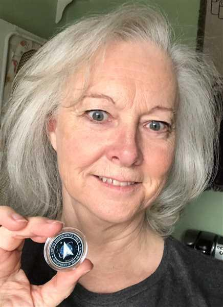 Diane Sanders verified customer review of Donald Trump - Space Force - Authentic JFK Half Dollar