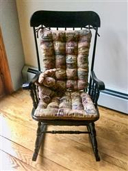 Colleen K. verified customer review of Woodlands Fish Camp Rocking Chair Cushions - Latex Foam Fill - Rustic Lodge