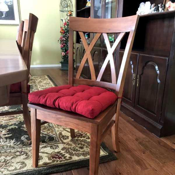 Nancy Palmer  verified customer review of Rave Red Indoor / Outdoor Dining Chair Pads & Patio Chair Cushions