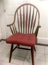 Turi M. verified customer review of Tiffany Wine Red Brocade Dining Chair Pad - Latex Foam Fill - Reversible