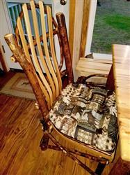 Laurel G. verified customer review of Woodlands Peters Cabin Dining Chair Pads - Latex Foam Fill - Rustic Lodge