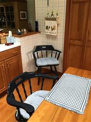 Rosalie P. verified customer review of Madrid Lake Blue Gingham Dining Chair Pads - Latex Foam Fill, Reversible