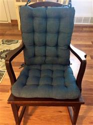 Mary A. verified customer review of Rave Pacific Blue Porch Rocker Cushions - Latex Foam Fill, Fade Resistant