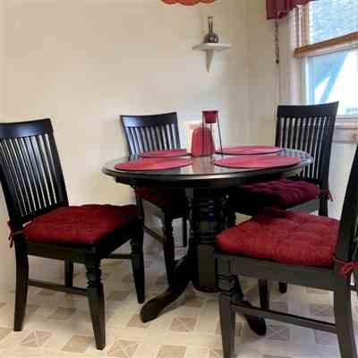 MICHAEL D. verified customer review of Chenille Rib Claret Red Dining Chair Pad with Ties - Latex Foam Fill
