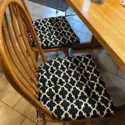 Susan K. verified customer review of Fulton Ogee Navy Blue Indoor / Outdoor Dining Chair Pads & Patio Cushions