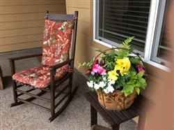 Sharon S. verified customer review of Manilla Black Indoor/Outdoor Rocking Chair Pads- Size Extra Large