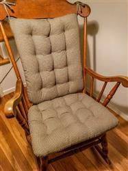 Mary R. verified customer review of Madrid Black & Tan Gingham Rocking Chair Cushions - Latex Fill - Reversible
