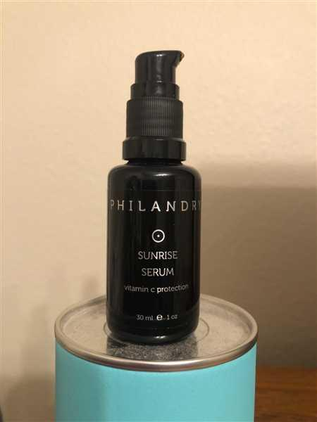 PHILANDRY Sunrise Serum Review