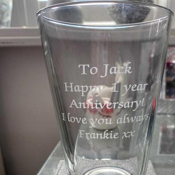 Spoken Gifts Personalised Any Message Pint Glass Review