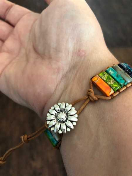 My Yoga Essentials Natural Stone and Leather Single Rope Wrap Bracelet - Chakra Review