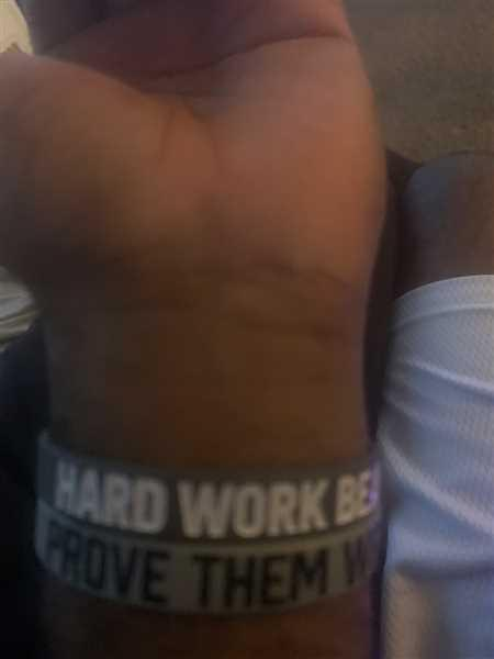 Elite Athletic Gear HARD WORK BEATS TALENT Wristband Review