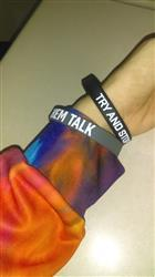 Anthony H. verified customer review of LET THEM TALK Wristband
